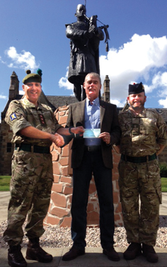 news - cheque for army fund