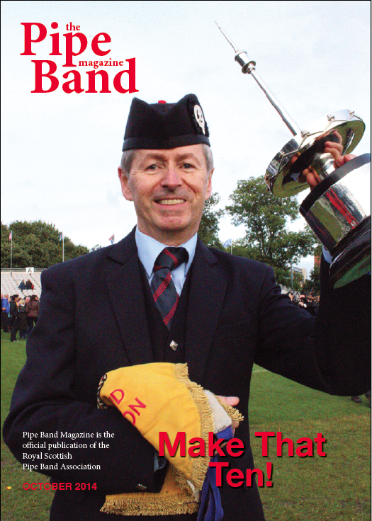 The October '14 issue of Pipe Band magazine