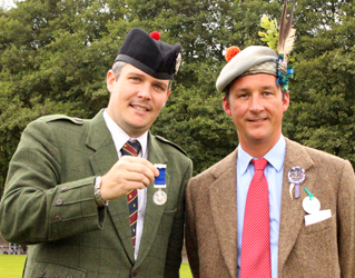 Other winners on the first day of the Gathering…..Silver Medallist Decker Forrest receives his award from His Grace the Duke of Argyll, the Gathering President