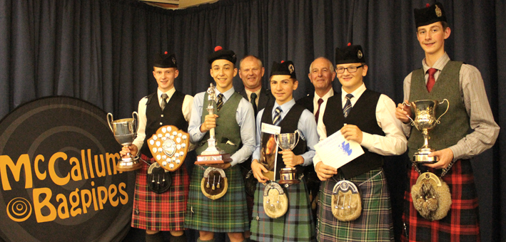 Prizewinners at the SPA Juvenile pose with adjudicator John Patrick and SPA President Tom Johnstone