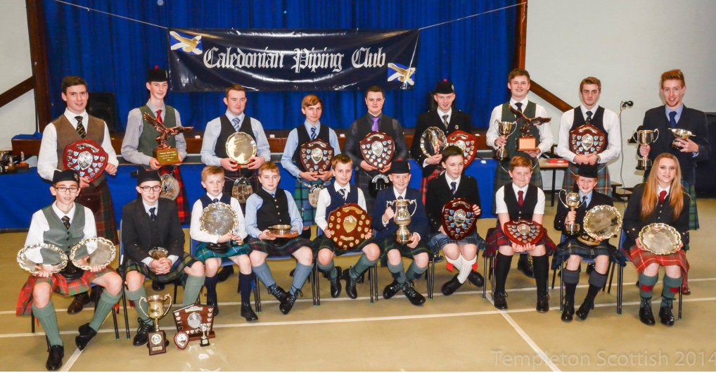 All the winners at the Ferstival of Juvenile Piping