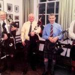 EUOTC pipers at a recent reunion