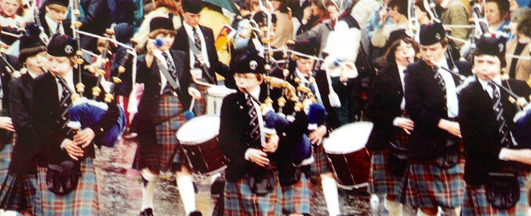 Ross, second from right, in the juvenile band circa 1981