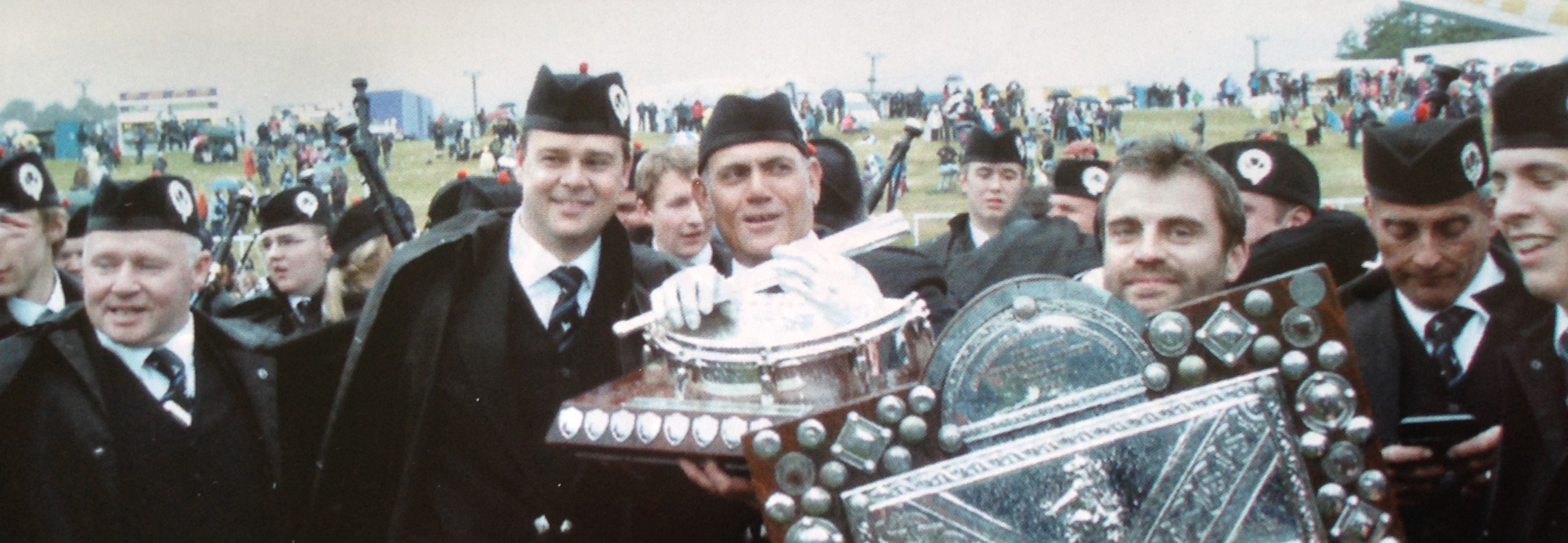 The Boggies celebrate their big win at Cowal in 2010