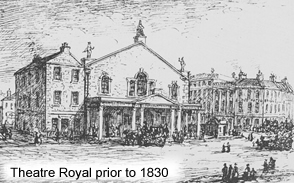 The Theatre Royal prior to 1830