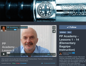 The PP Academy Learn the Bagpipe Channel