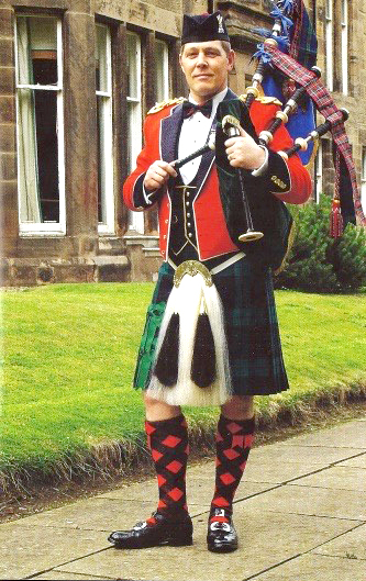 Major Steven Small, current Director of Army Bagpipe Music