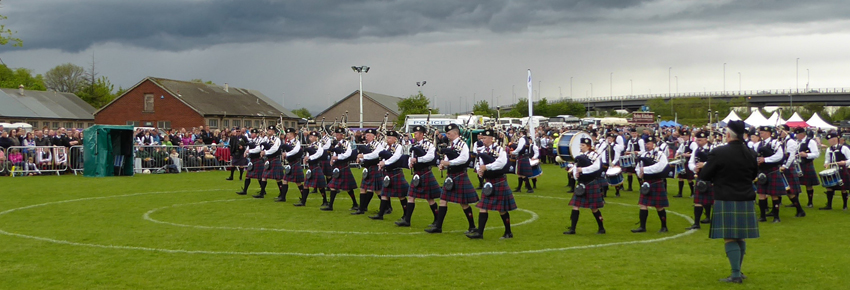 Lowering skies greeted P/M Douglas Murray and Fife Constabulary