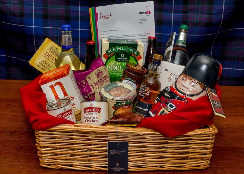 Sponsore Hamper, Piping at Forres.