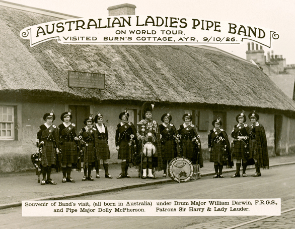 Australian Ladies...their visit to Scotland was commemorated in an outstanding composition by P/M Willie Ferguson