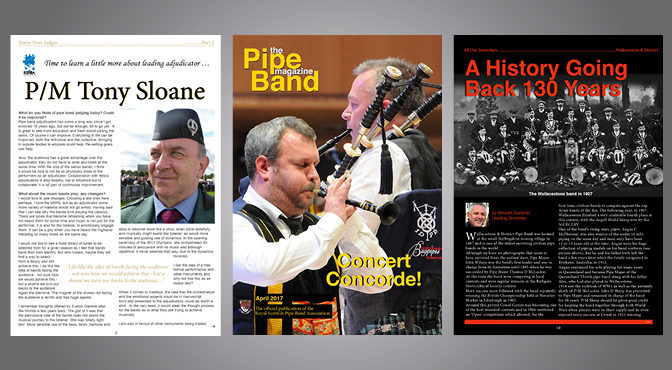 Latest Edition Pipe Band Magazine/ Preview of Dunedin Games, Florida